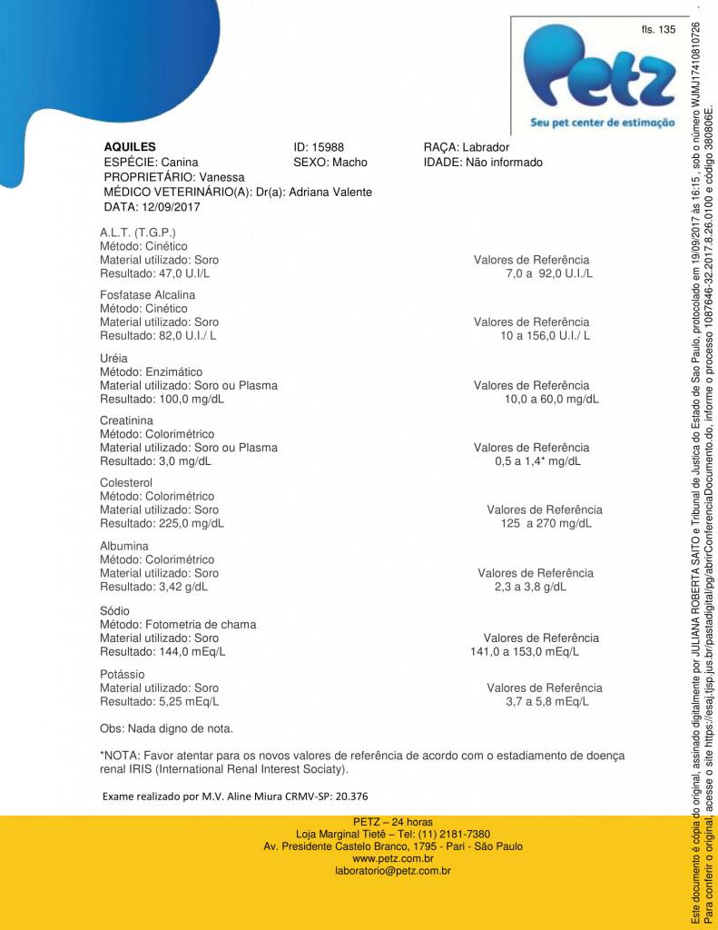 Exame doença renal crônica